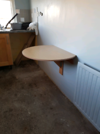Fold away pine table