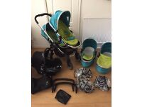 Icandy Peach Blossom Sweetpea double / twin pushchair ideal for twins