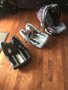 Infant/ baby car seat with two basses Kawartha Lakes Peterborough Area image 4