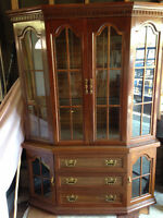 2pc buffet hutch display cabinet