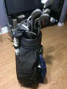 Mens right hand golf set with bag.