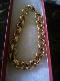 12mm luxury heavy belcher bracelet 8inches diamond cut new