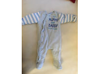 Very warm all in one in excellent condition (3-6m) for baby boy