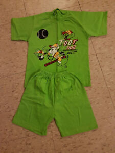 4T T-shirt and short set for boys