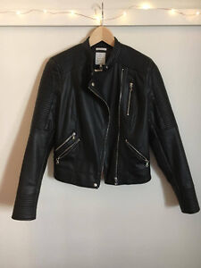 New Zara Faux Leather Biker Jacket
