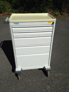 Metal Medical Cart - 5 Drawers (can be used as tool chest)