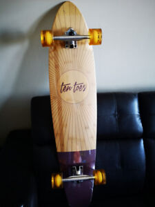 Longboard Ten Toes 44'' Bamboo and Maple Hybrid