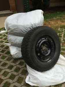 WINTER TIRES MotoMaster Total Terrain 235/70R16 on Steel Rims Cambridge Kitchener Area image 1