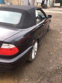 Breaking BMW 323Ci 2.5 petrol coupe black convertible 2001