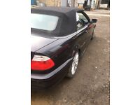 Breaking BMW 323Ci 2.5 petrol coupe black convertible 2001