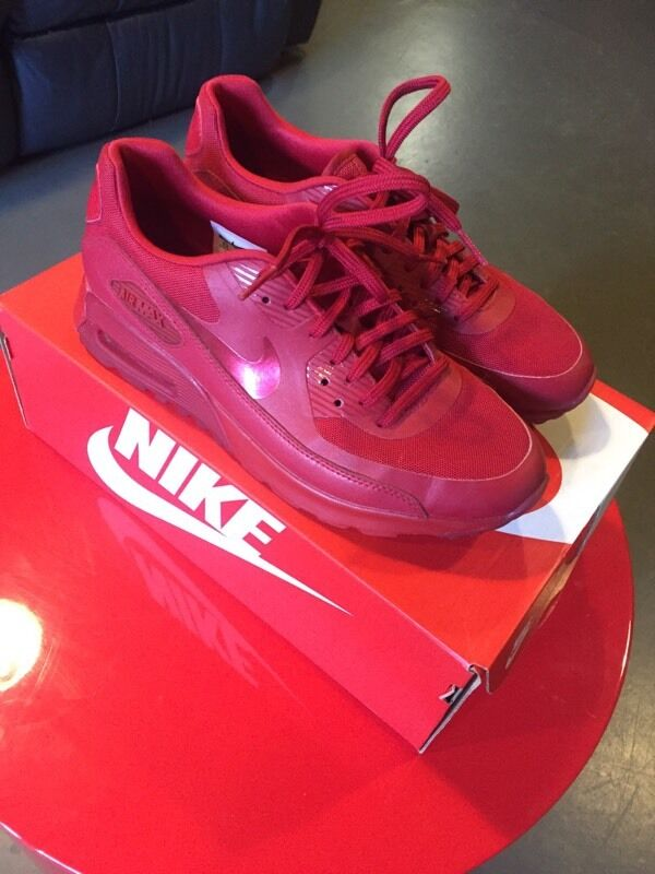 vpdhf Nike Air Max 90 Ultra W red leather nearly brand new in box size 6