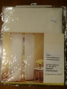 Sheer Eggshell Curtain Panels Edmonton Edmonton Area image 1