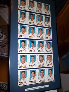 VANCOUVER CANUCK 1989 UNCUT PLAYER SHEETS