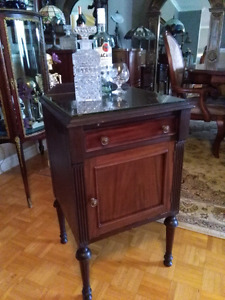 Antique Bar buffet nightstand console table d'appointe