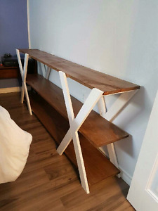 Double X console table