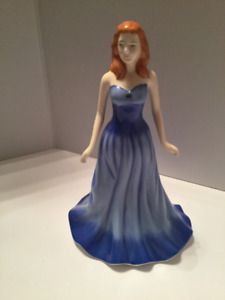 "Royal Doulton ""Sapphire"" HN 4978 Gemstones Collection Figurine"