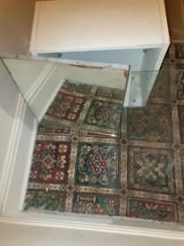 Mirror White Bathroom Cabinet