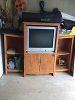 JVC TV and wall unit