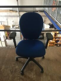 Blue Torasen swivel office chair