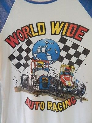 Vintage 1982 GC Lord 81 World Wide Auto Racing Speedway Baseball Sport T Shirt M
