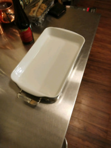 All-clad rectangular baking dish with stainless base