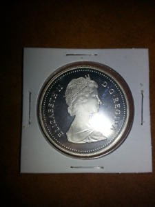 ONE - 1986 Proof Silver Dollar