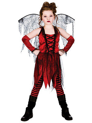 Halloween Girls Fancy Dress Up Horror Vampire Fairy Scary Kids Costume Ages 5-13 - Halloween Costumes For Girls Age 13