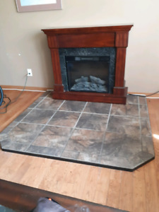 LIKE NEW CERAMIC TILE/CEMENT HEARTH PAD