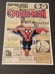 Marvel Spiderman Vintage Comic Book Art - 11 x 14 comes matted