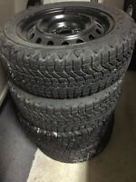 205-55-R16 Winter tires on rims