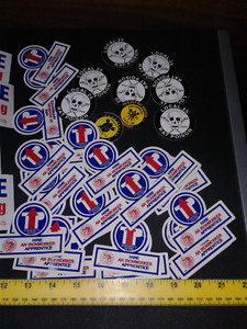 Numerous Union stickers Iron Workers