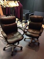 Leather office chairs - (Tag: IKEA, staples, urban barn)