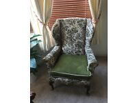 Vintage Wing Back Arm Chair