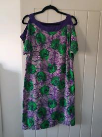 Ladies cut-out shoulder dress