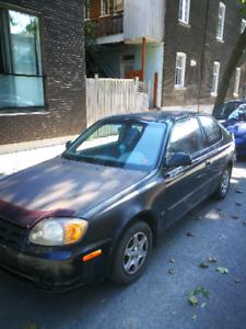 Hyundai Accent 2005  - 180 000 km - Manuel, 2 porte - 700$$$$$$