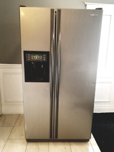 "Samsung Stainless Steel Side By Side 36"" Fridge"