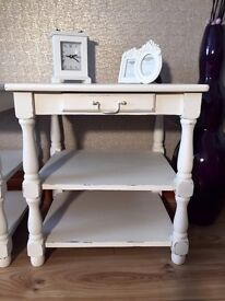 Two Beautiful Shabby Chic Side/Bedside Tables