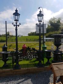 Large cast aluminium garden lamps different sizes