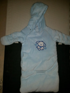 Baby Bunting Suit (6 months) (baby blue)