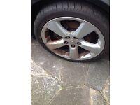 "Lexus is200 18"" alloy wheels set + good tyres 225 40 r18 is 200 is300 altezza sportcross jap"