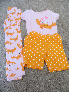 Size 5 Carter's Pajamas 4 sets, $5.00 each or all for $16.00