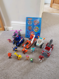 New sealed Paw patrol activity tin plus preloved vehicles and figures