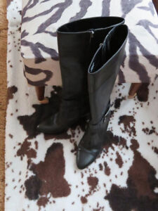 Size 8 1/2 Black Boots - worn ONCE