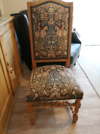 Solid tapestry chair