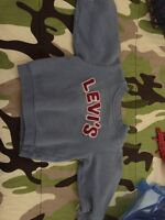 Levis sweatshirt (blue with pink letters) size 3 made small