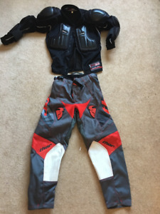 Kids protective motocross gear - Ballistic jersey and Thor pants