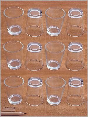 12 pc SHOT GLASS Set Dozen Shot Glasses —Genuine Glass Shotglass Liquor Drinking