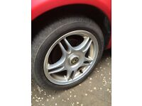 Mx5 alloys x4 (good tyres)15 inch drift