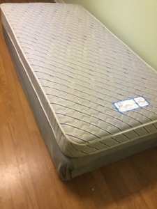 free delivery- 2yr old single mattress and boxspring