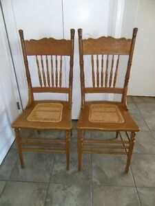 Pair of Antique Pressedback Chairs